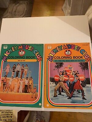 MICKEY MOUSE CLUB COLORING BOOKS 1378 & 1379 ()