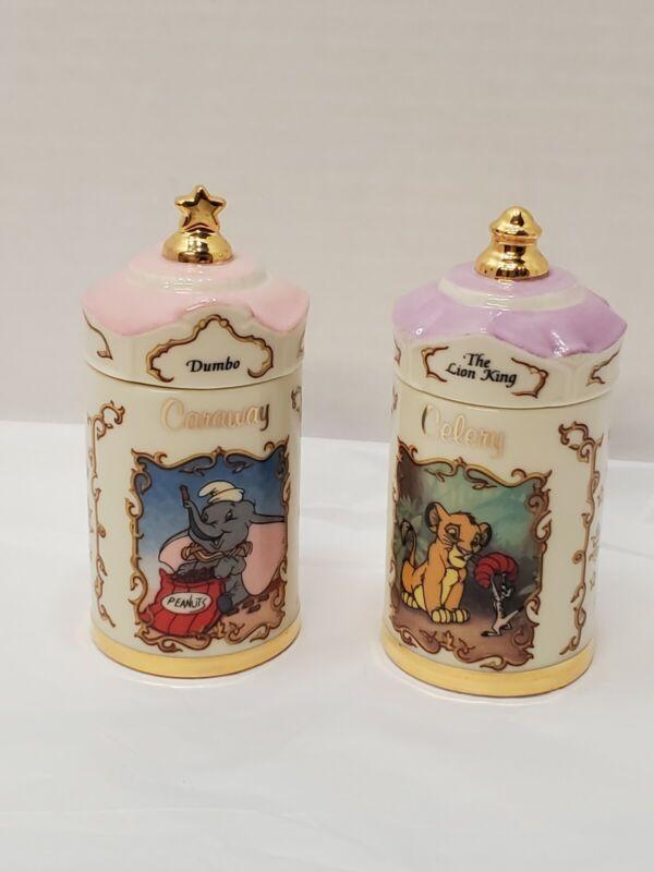 1995 Lenox Walt Disney Spice Jar Collection The Lion King Celery  Dumbo Caraway
