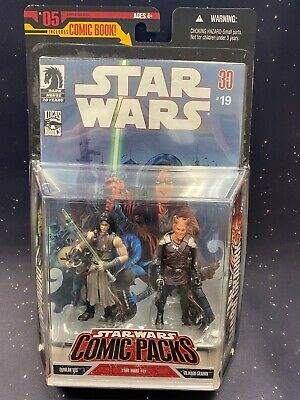 2008 Star Wars Comic 2-Pack #5 Quinlan Vos & Vilmarh Grahrk C7