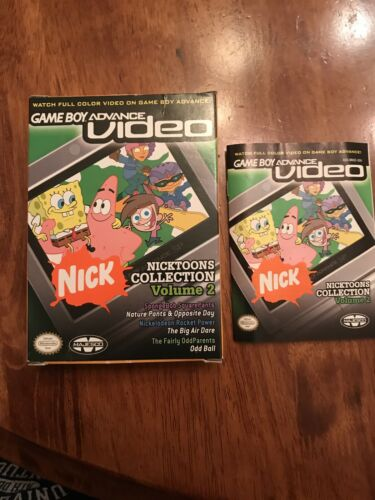 Nintendo Game Boy Advance Video Nicktoons Collection,V2 Box/Manual No Cartridge - $4.95