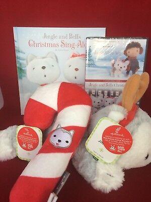 Hallmark Plush Jingle Christmas Sing Along Book Jingle All the Way DVD Dog Toy