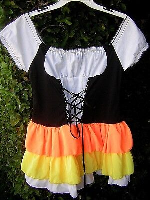 Candy Corn Halloween Costume Oktoberfest  Dress:Swiss Miss, Beer Garden Gal Sz L - Swiss Miss Halloween Costume