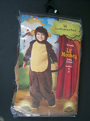 New Lil' Monkey 3T Plush Toddler Halloween Costume for - 2t Monkey Halloween Costume