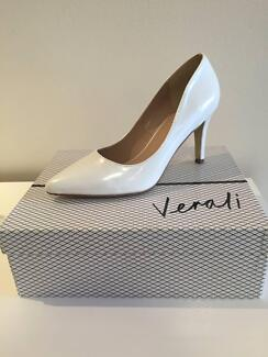 Brand New Womens Verali White Pearl Patent Leather Heels Size 7 Cammeray North Sydney Area Preview