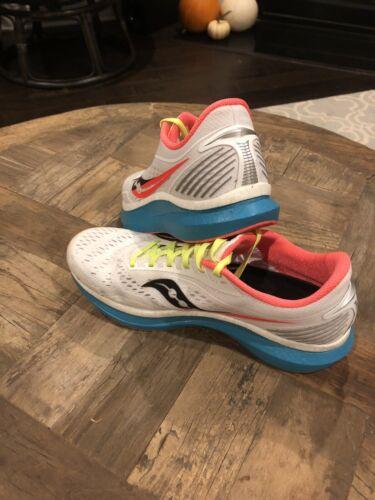 Saucony Men's Endorphin Speed Running Shoes, White/Mutant, 10.5