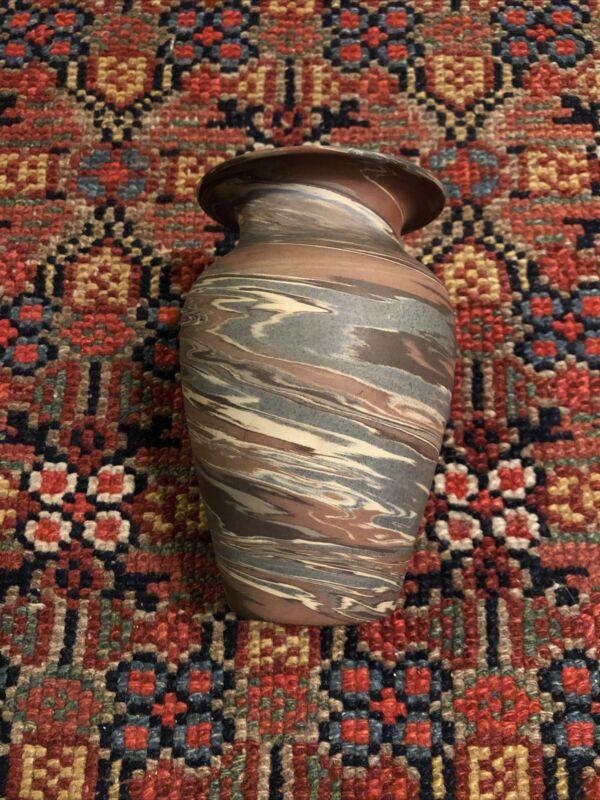 "Antique Niloak Art Pottery Mission Swirl 5 1/4"" Vase Arts & Crafts"