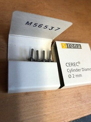 Sirona Cerec Inlab Cylinder Diamond Four Total Burs Dental Milling 2.0mm-