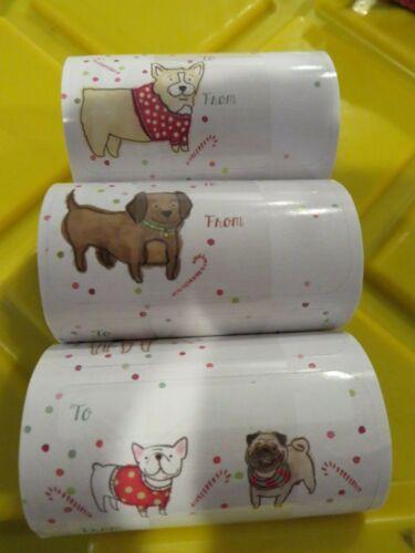 60 Christmas Holiday Gift Tags - NEW Dachshund ~ Corgi ~ Dogs NEW
