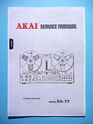 Service Manual-Anleitung für Akai GX-77
