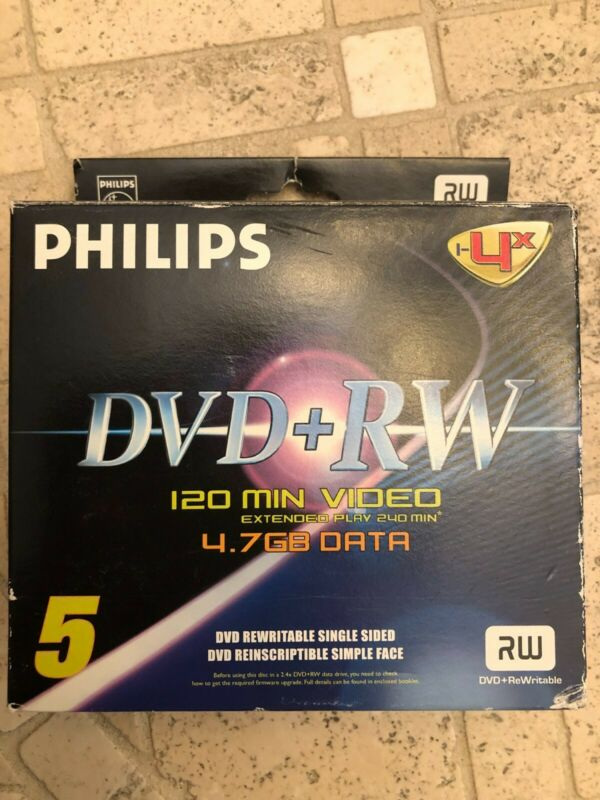 Philips DVD+RW Video Data Computer Play New set of 4