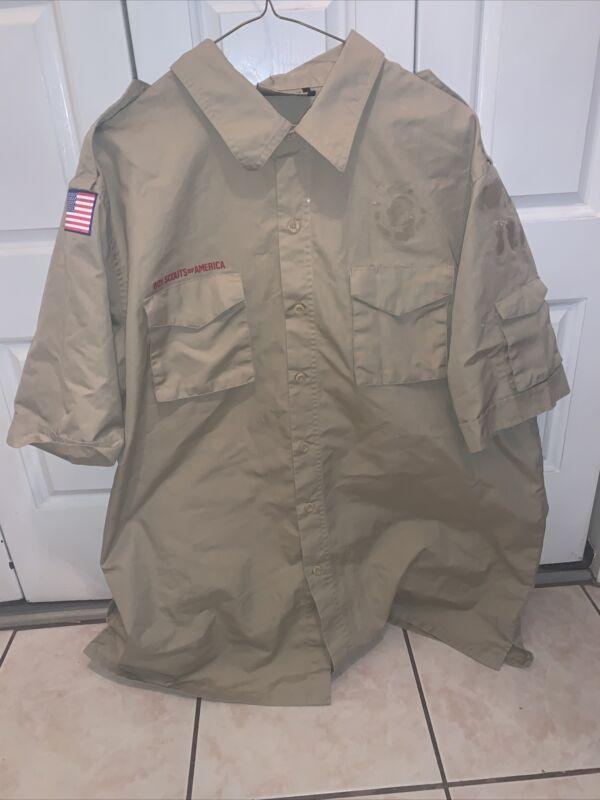 Boy Scout BSA UNIFORM New Style SHIRT Adult Large  Short Sleeve K50