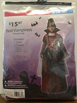 Girls Gothic Halloween Costumes (Gothic Vampiress Halloween Costume Girls Size Small 4-6)