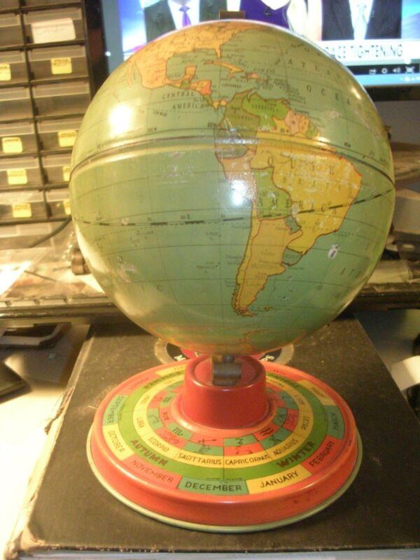 Antique Globe - Ca. 1925 Six Inch Diameter World Globe