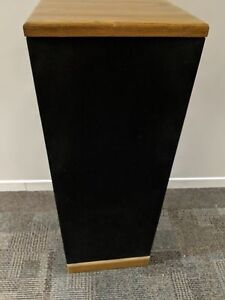 Post Solid Oak Floor-Standing Speaker Towers Monitors