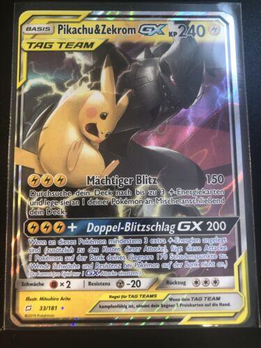 Pikachu&Zekrom GX Tag Team, Teams sind Trumpf (33/181) deutsch NEU