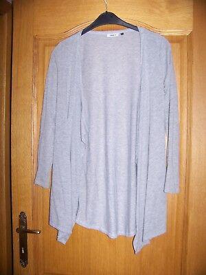 Beau gilet dame gris clair  asymétrique 38/40 (S)