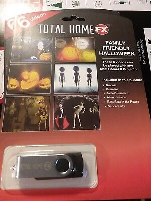 WindowFX Family Friendly Halloween 6 Animated Video Collection Scary Display New