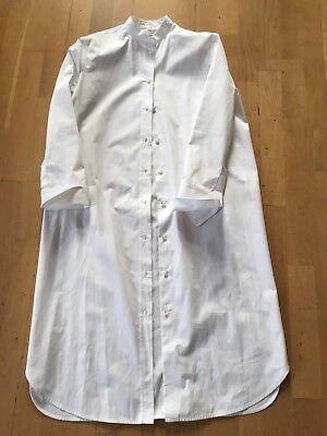 NEW 1300 EUR HERMES Paris Hemdblusen Kleid Shirtdress, 34 FR, with cufflinks