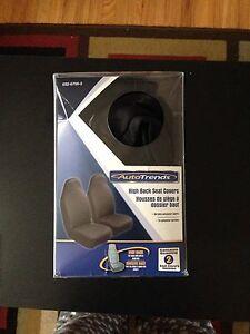 2 Black seat covers 15$  Kingston Kingston Area image 1