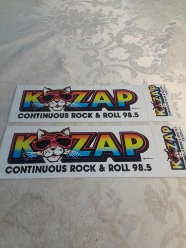 2 Vintage Radio Bumper Stickers 98.5 KZAP Sacramento Ca
