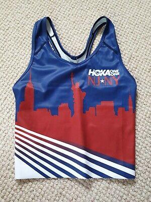 Hoka One One NJ NY Pro Track Club Running Race Singlet Tank Top Bra Women's XS
