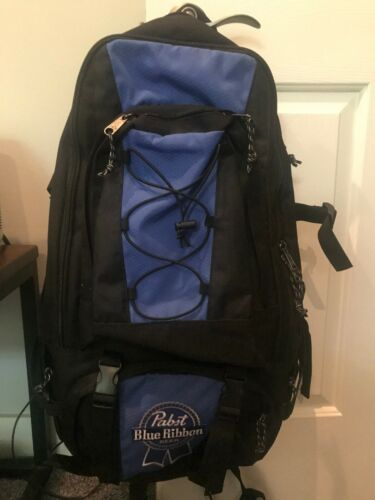Large Pabst Blue Ribbon Backpack - NEW - multi pockets - Free Shipping
