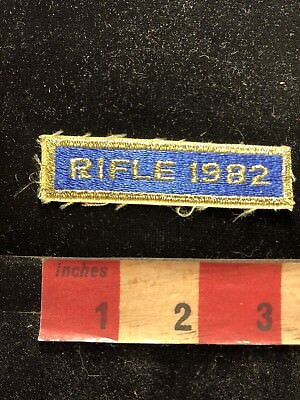 Vintage 1982 RIFLE COMPETITION Tab Patch Gun / Firearm / Ammo Related 83A1