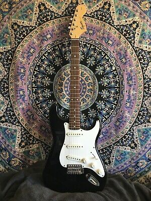 Fender Squier Affinity Stratocaster Electric Guitar Black Strat 2002