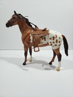 Beautiful Vintage Breyer Appaloosa Horse with Saddle & Bridle