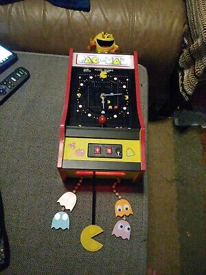 BRADFORD EXCHANGE Pac Man WALL CLOCK LIGHTED/MUSICAL LIMITED EDTION 35 YEAR ANNI