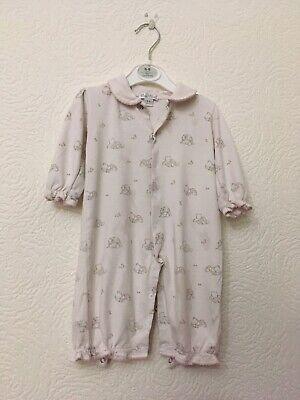 Baby Girls Kissy Kissy Sleepsuit/babygrow Size 6-9 Months Used