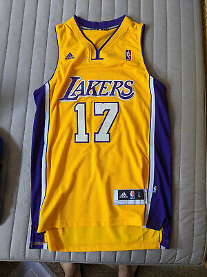 Adidas NBA Los Angeles LA Lakers Jeremy Lin Basketball Jersey GOLD