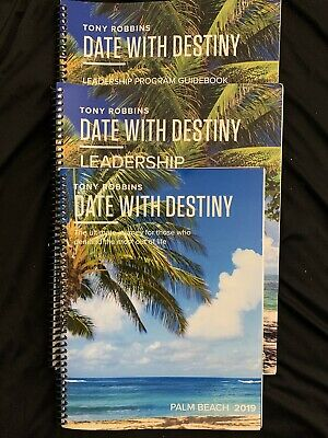 Tony Robbins 2019 Date with Destiny Leadership, leadership guide manual 3-pack