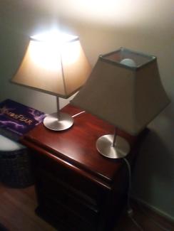 Two Rakumba desk lamps