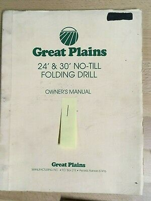 Great Plains Drill Owners Manual 24 30 No-till Folding Drill