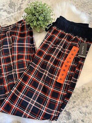 Nautica Red Blue Plaid Pajama Pants Adjustable Waist Mens Size Medium NWT