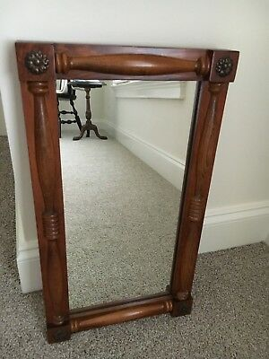 - MIRROR by CORNWALL Maple Wood with Rosette Medallion Block Corners 19