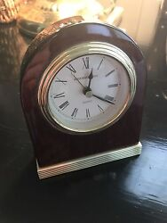 BAILEY BANKS & BIDDLE Luxury Desk Clock. Wood Brand Watches
