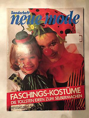 Faschingskostüme Karneval NEUE MODE Sonderheft 86 RAR selbermachen Schnittmuster