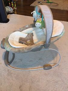 Baby bouncer chair with vibration and music