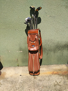Retro golf bag with clubs, balls and tees Summer Hill Ashfield Area Preview