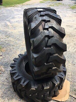 2 NEW HD Camso SLR4 19.5L-24 Backhoe Tires R4 -12 Ply  for Case, John Deere, CAT