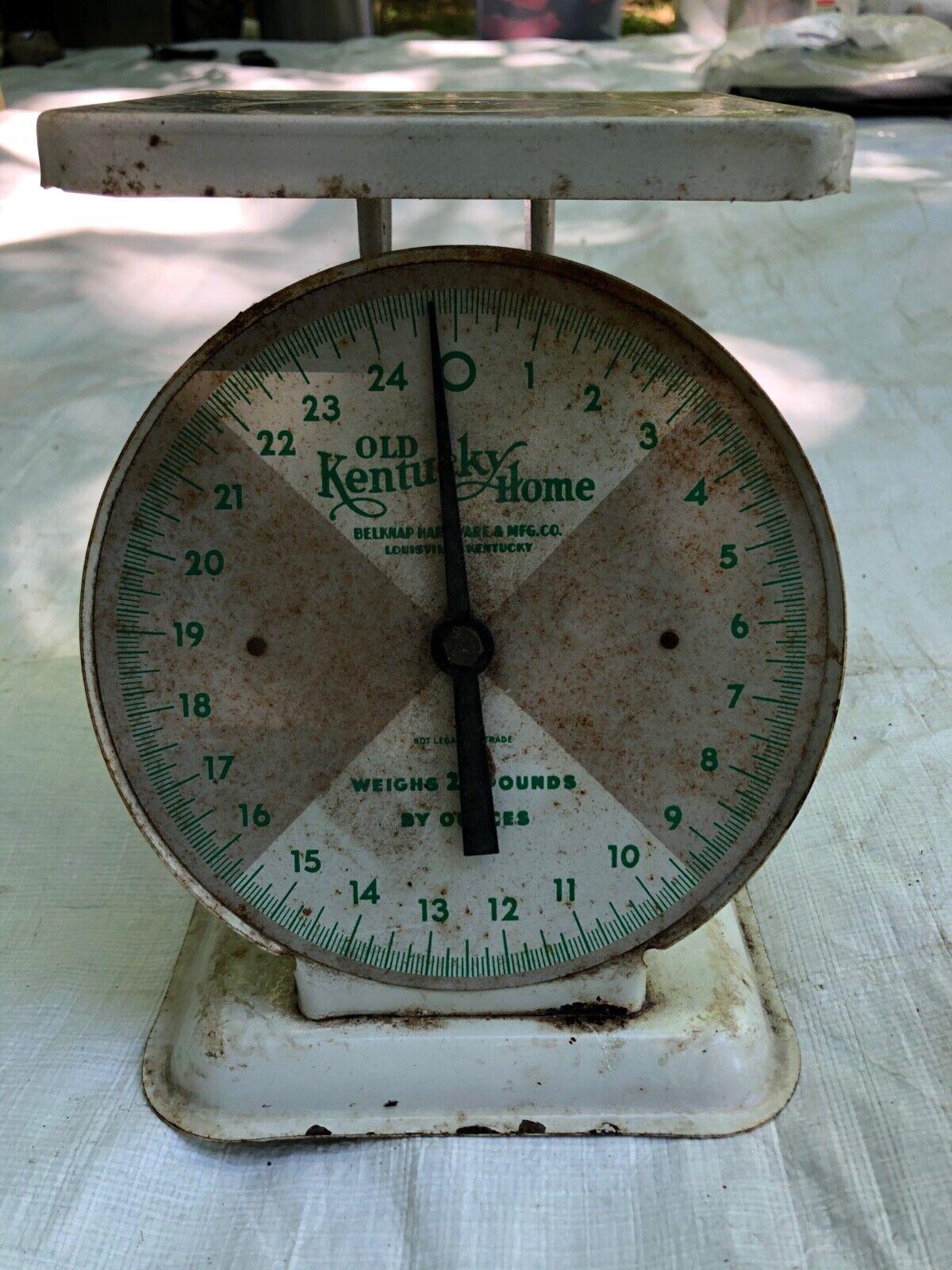 Old Kentucky Home Vintage Kitchen Scale Belknap Hardware Mfg. Co. - $45.00