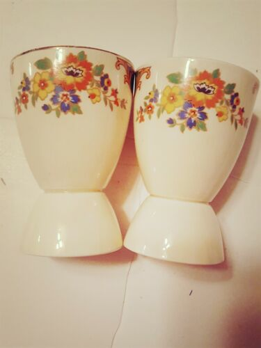 EGG Cups 2 Floral design made in ENGLAND