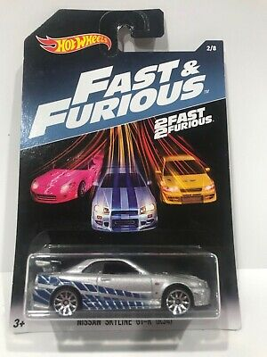2016 Hot Wheels Fast and Furious Nissan Skyline GT-R (R34) 2 FAST 2 FURIOUS #2/8