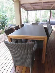 Outdoor Dining Setting Table 8 Chairs