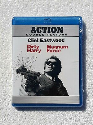 Dirty Harry / Magnum Force (Blu-ray Disc, 2010 2-Disc Set) NEW Sealed Cut in UPC