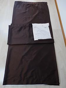 Dark Brown Pencil Pleat Lined Curtains 2 sets available EUC! Baldivis Rockingham Area Preview