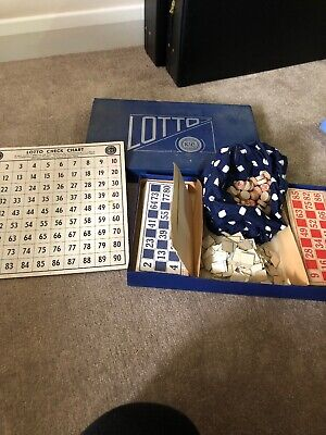 Vintage Lotto K&C London Board Game (Bingo)