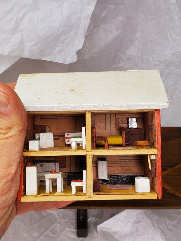 1:144 Artist Miniature Doll House Vintage Kitchen Bedroom Bathroom Furniture 70s